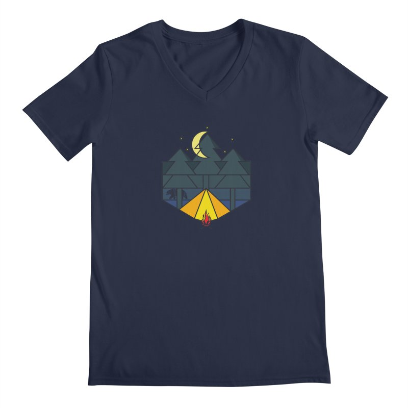 night camp Men's V-Neck by delcored