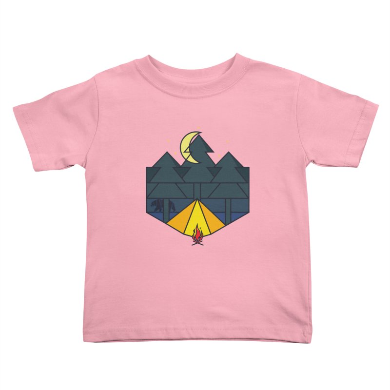 night camp Kids Toddler T-Shirt by delcored