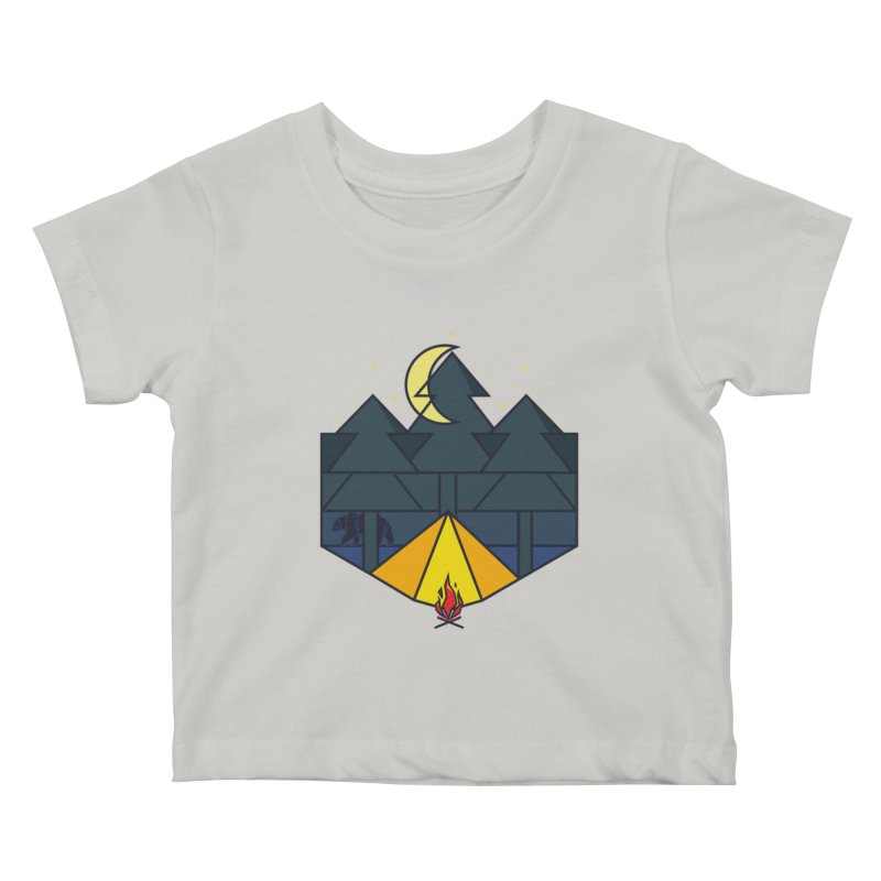 night camp Kids Baby T-Shirt by delcored