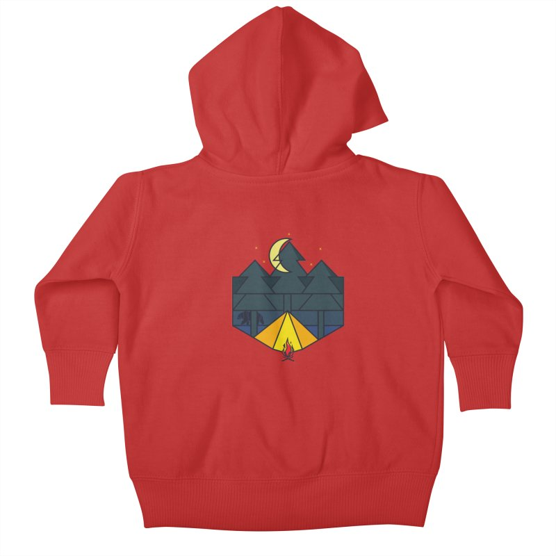 night camp Kids Baby Zip-Up Hoody by delcored