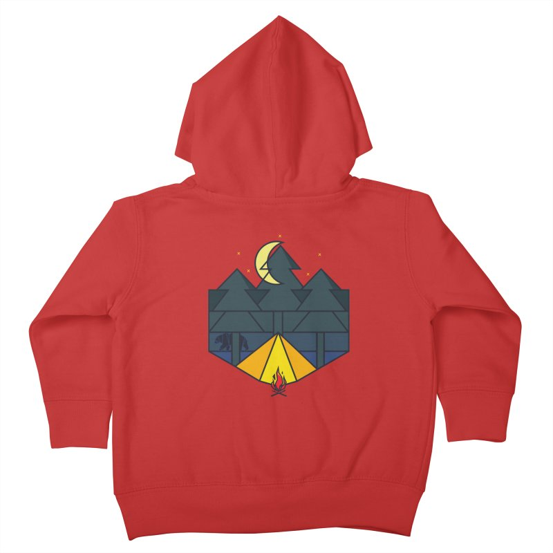 night camp Kids Toddler Zip-Up Hoody by delcored