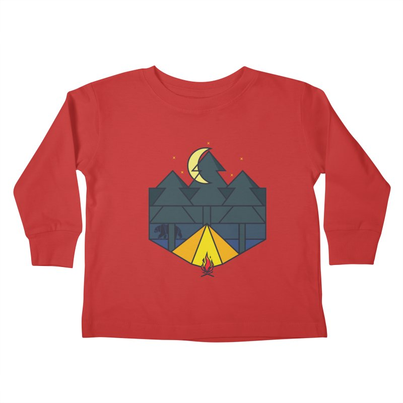 night camp Kids Toddler Longsleeve T-Shirt by delcored
