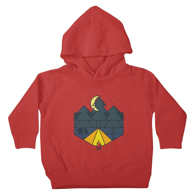 night camp Kids Toddler Pullover Hoody by delcored