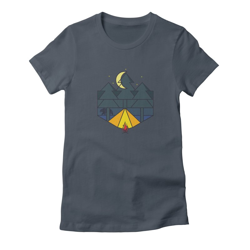 night camp Women's Fitted T-Shirt by delcored