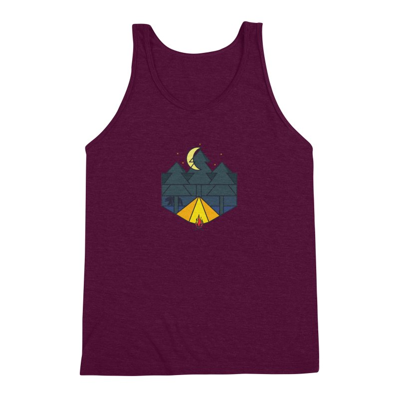 night camp Men's Triblend Tank by delcored