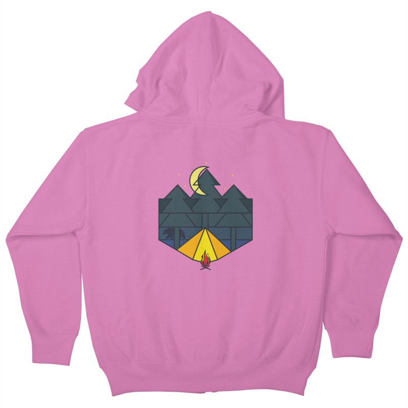 night camp Kids Zip-Up Hoody by delcore's Artist Shop