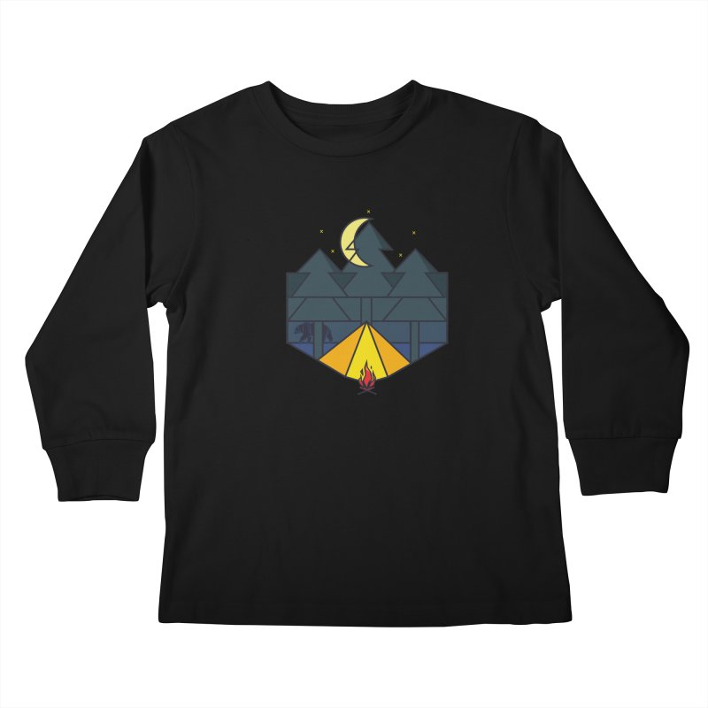 night camp Kids Longsleeve T-Shirt by delcored