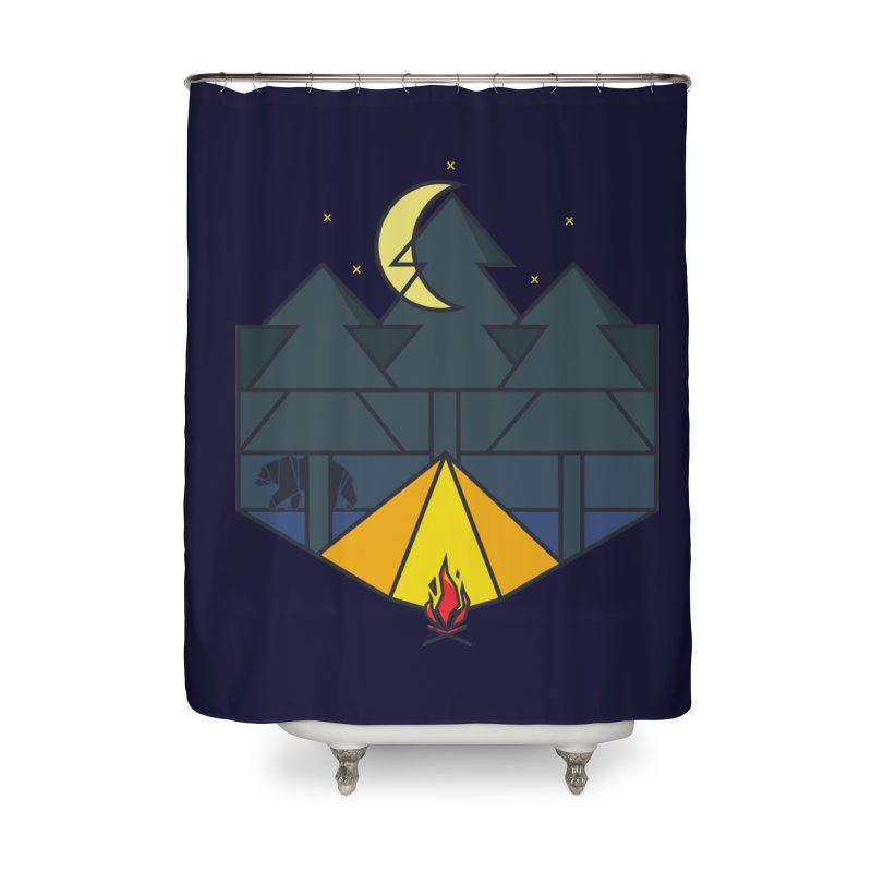 night camp Home Shower Curtain by delcored