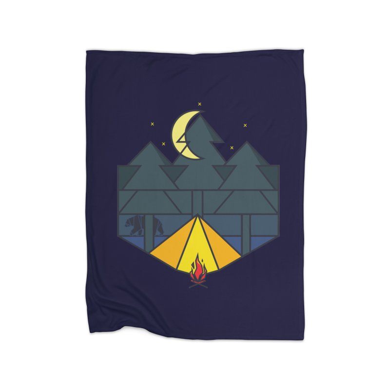 night camp Home Blanket by delcored