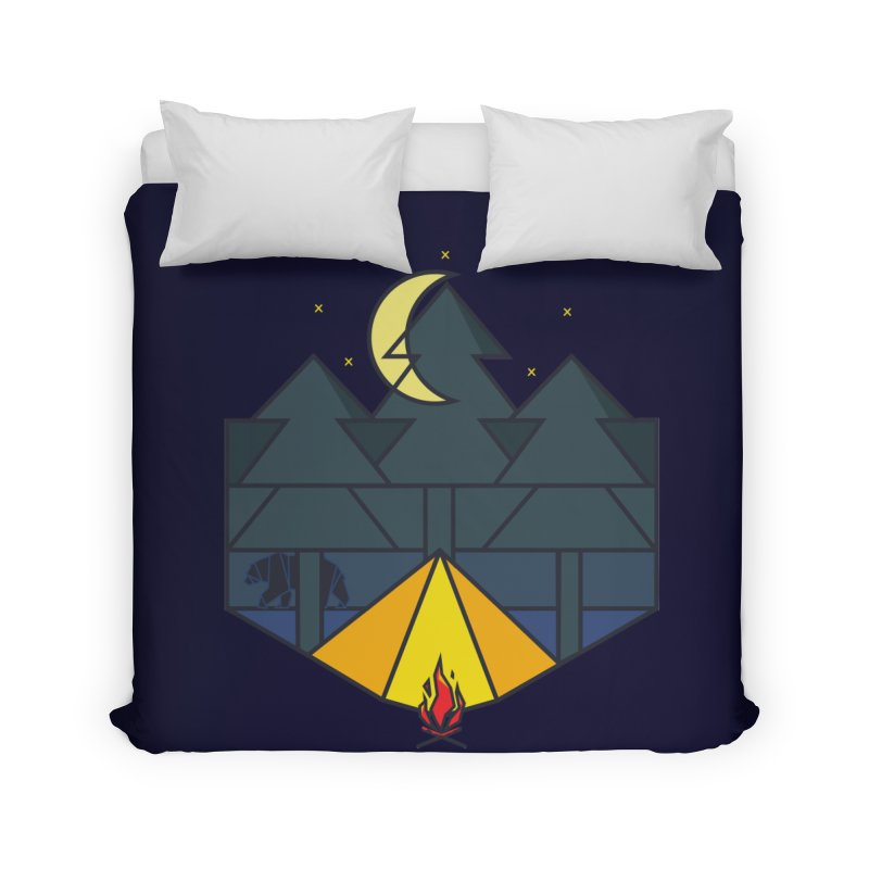 night camp Home Duvet by delcored