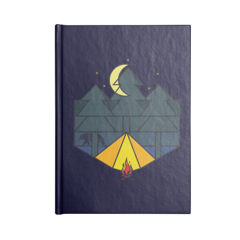 night camp Accessories Notebook by delcored