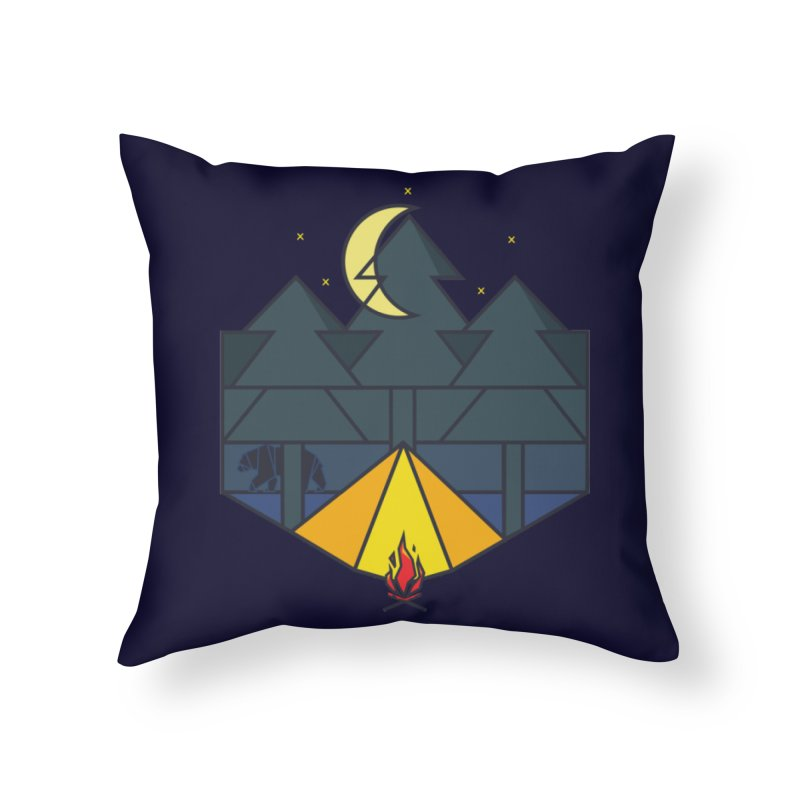 night camp Home Throw Pillow by delcored