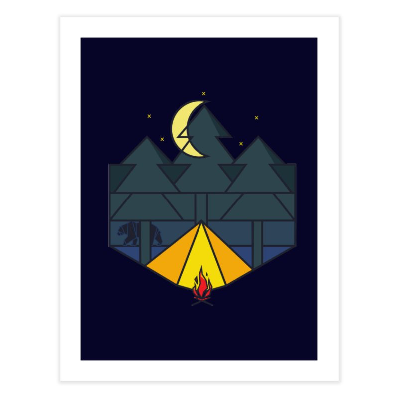 night camp Home Fine Art Print by delcored
