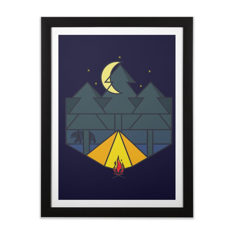 night camp Home Framed Fine Art Print by delcored