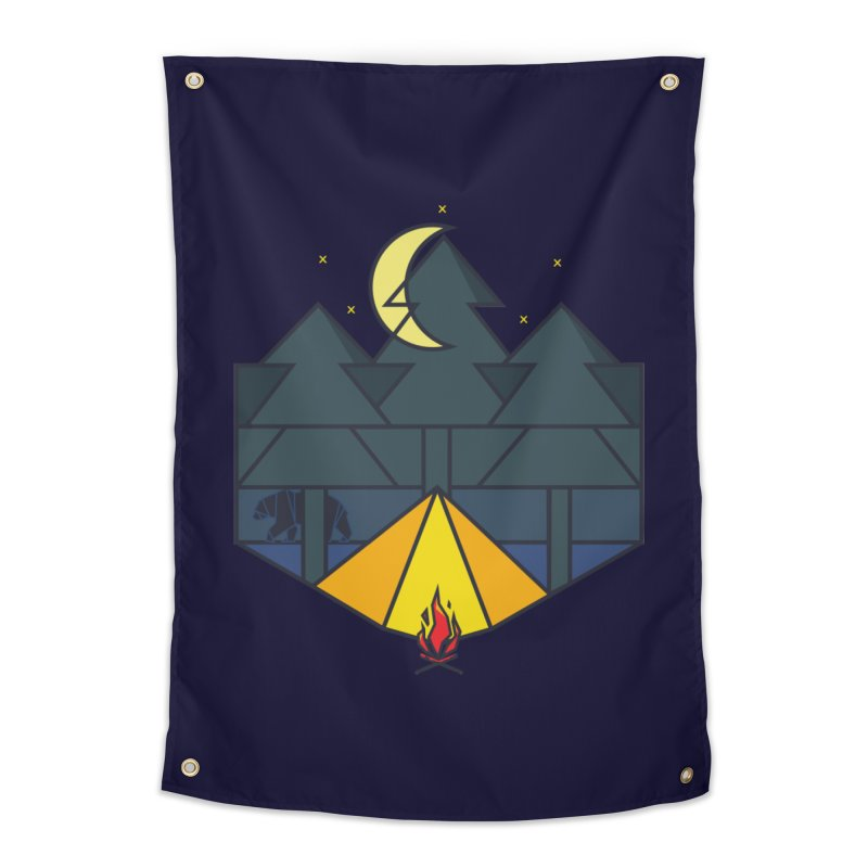 night camp Home Tapestry by delcored