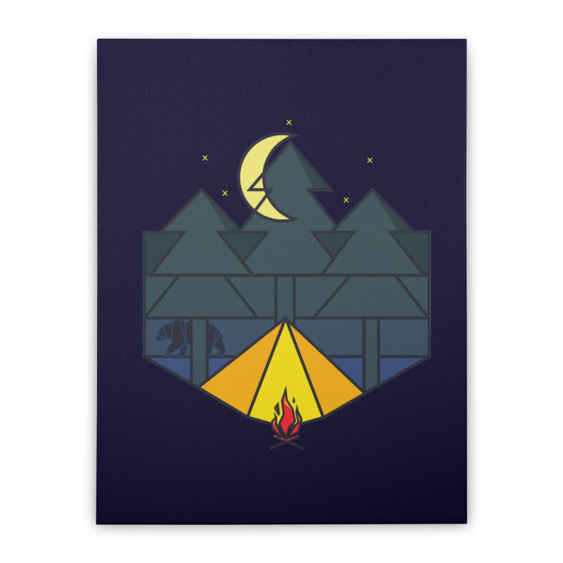 night camp Home Stretched Canvas by delcored