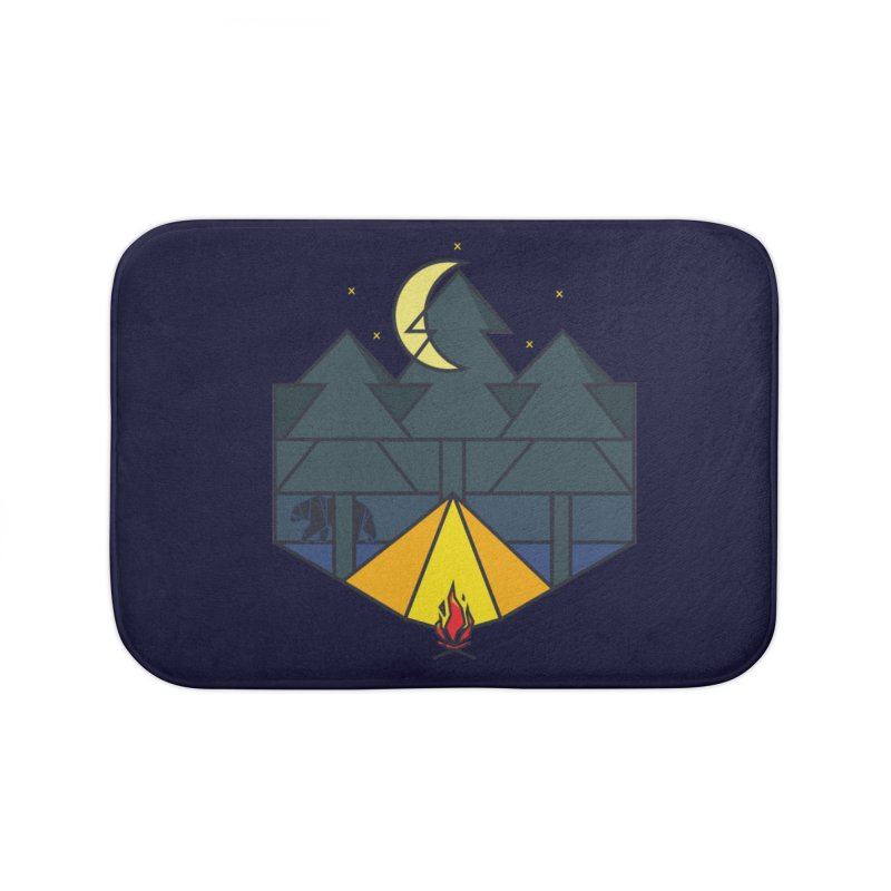 night camp Home Bath Mat by delcored