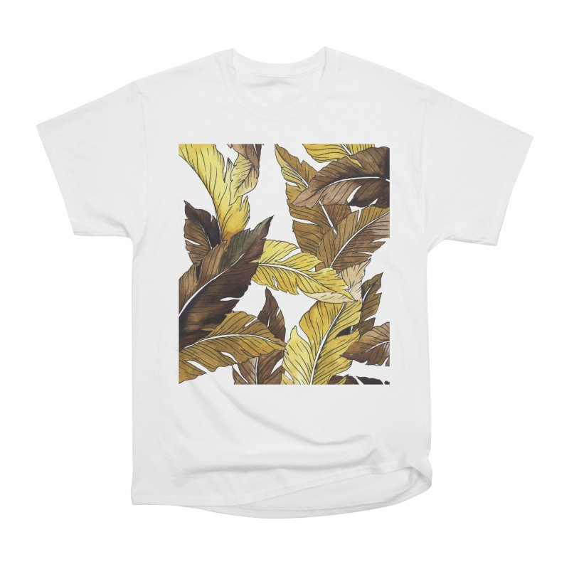 falling leaf Women's Heavyweight Unisex T-Shirt by delcored