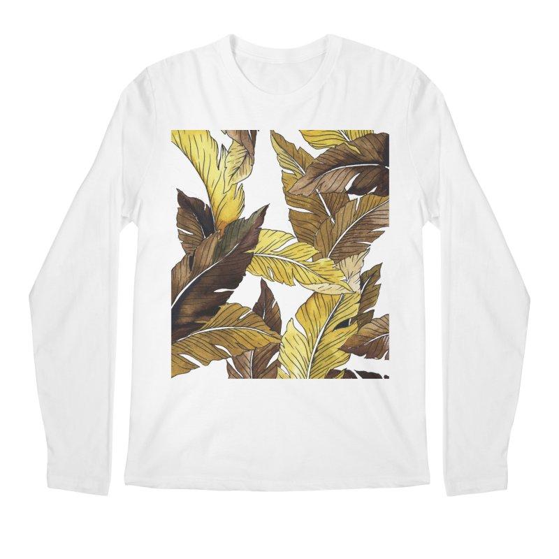 falling leaf Men's Longsleeve T-Shirt by delcored