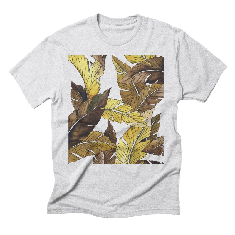falling leaf Men's Triblend T-Shirt by delcored