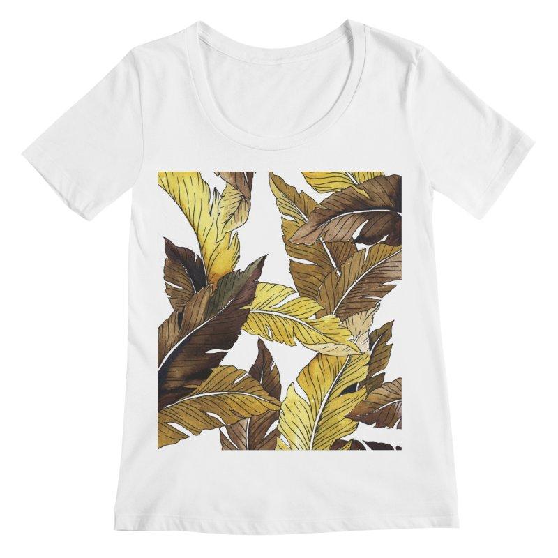 falling leaf Women's Scoopneck by delcored