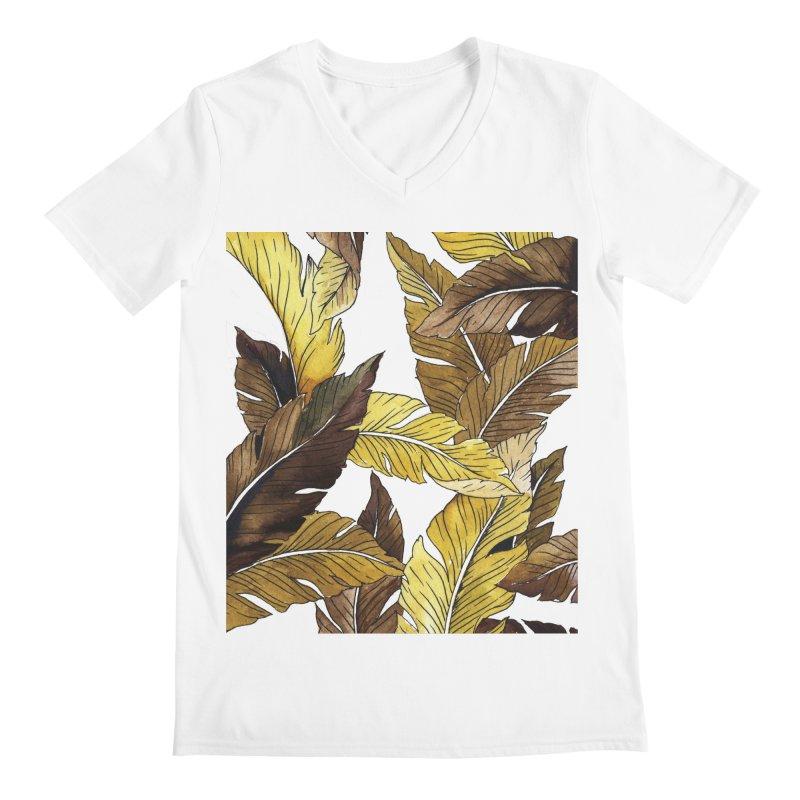 falling leaf Men's V-Neck by delcored