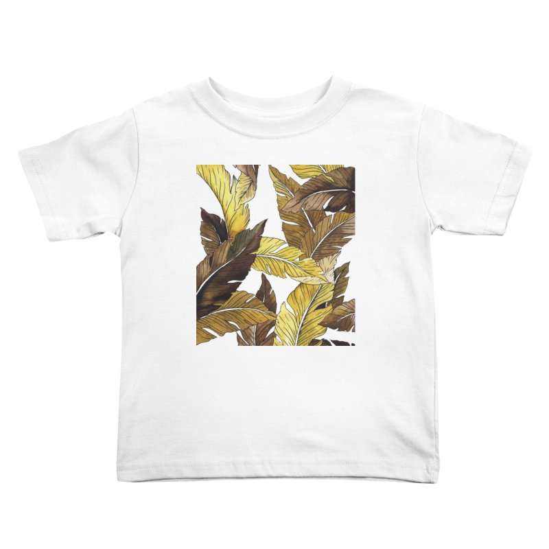falling leaf Kids Toddler T-Shirt by delcored
