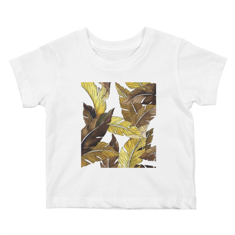 falling leaf Kids Baby T-Shirt by delcored