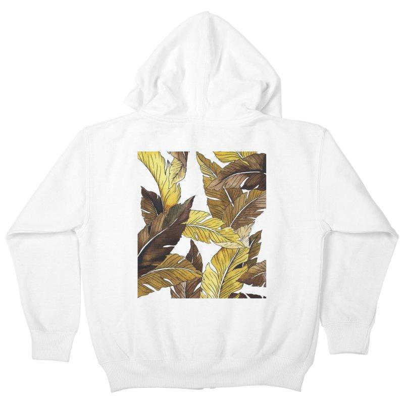falling leaf Kids Zip-Up Hoody by delcore's Artist Shop