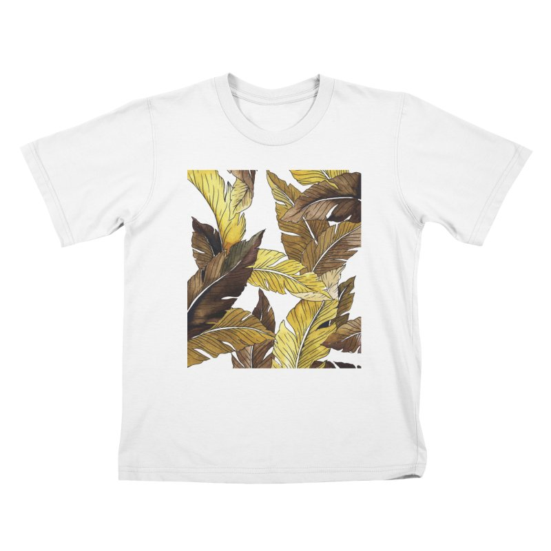 falling leaf Kids T-Shirt by delcored