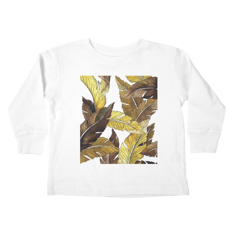 falling leaf Kids Toddler Longsleeve T-Shirt by delcored
