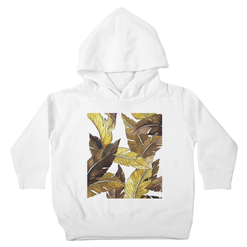 falling leaf Kids Toddler Pullover Hoody by delcored