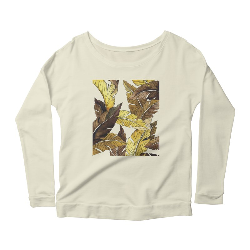 falling leaf Women's Longsleeve Scoopneck  by delcored