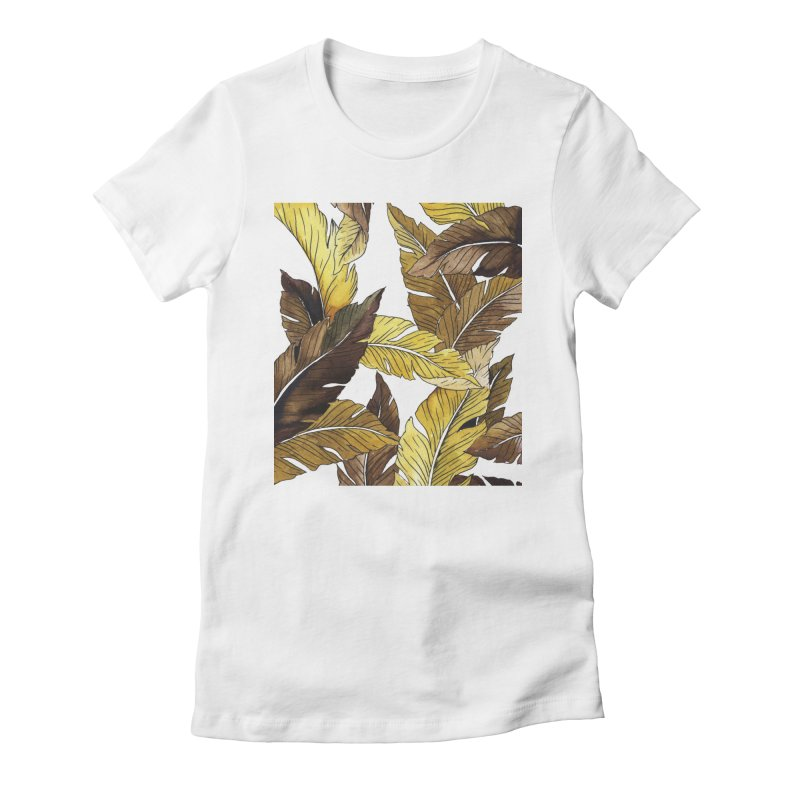 falling leaf Women's Fitted T-Shirt by delcored
