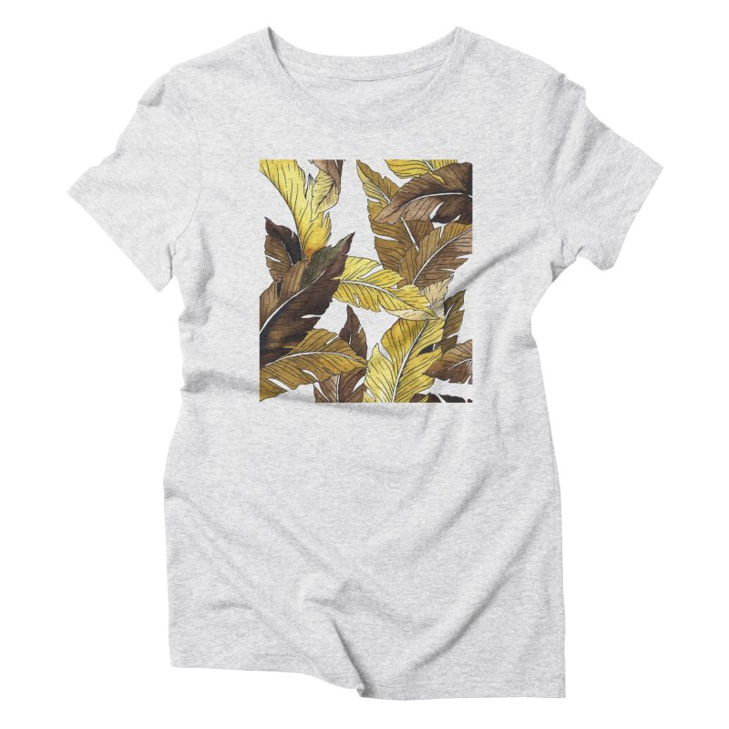 falling leaf Women's Triblend T-Shirt by delcored