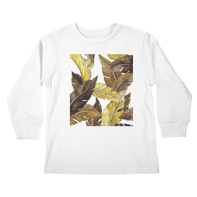falling leaf Kids Longsleeve T-Shirt by delcored