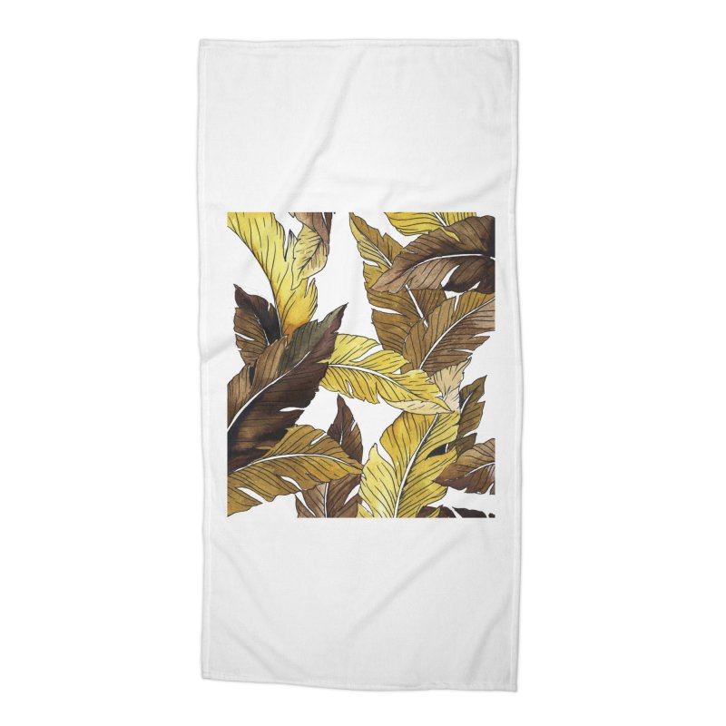 falling leaf Accessories Beach Towel by delcored
