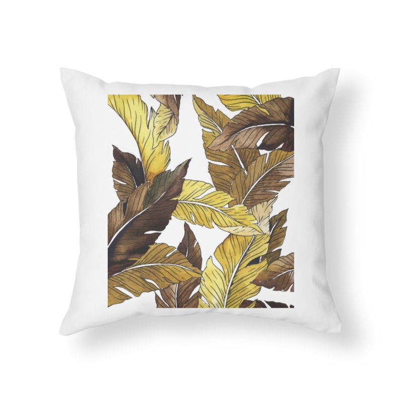 falling leaf Home Throw Pillow by delcored