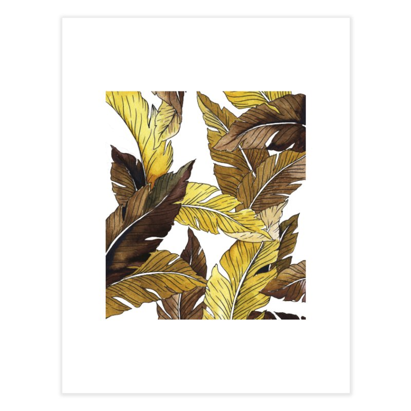 falling leaf Home Fine Art Print by delcored