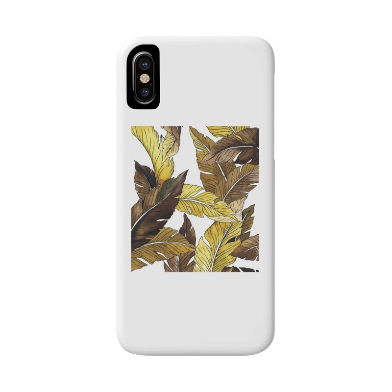 falling leaf Accessories Phone Case by delcored