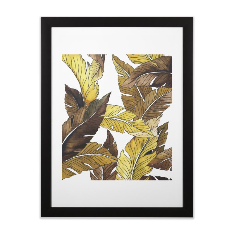 falling leaf Home Framed Fine Art Print by delcored