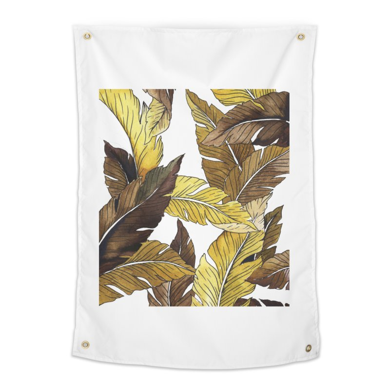 falling leaf Home Tapestry by delcored