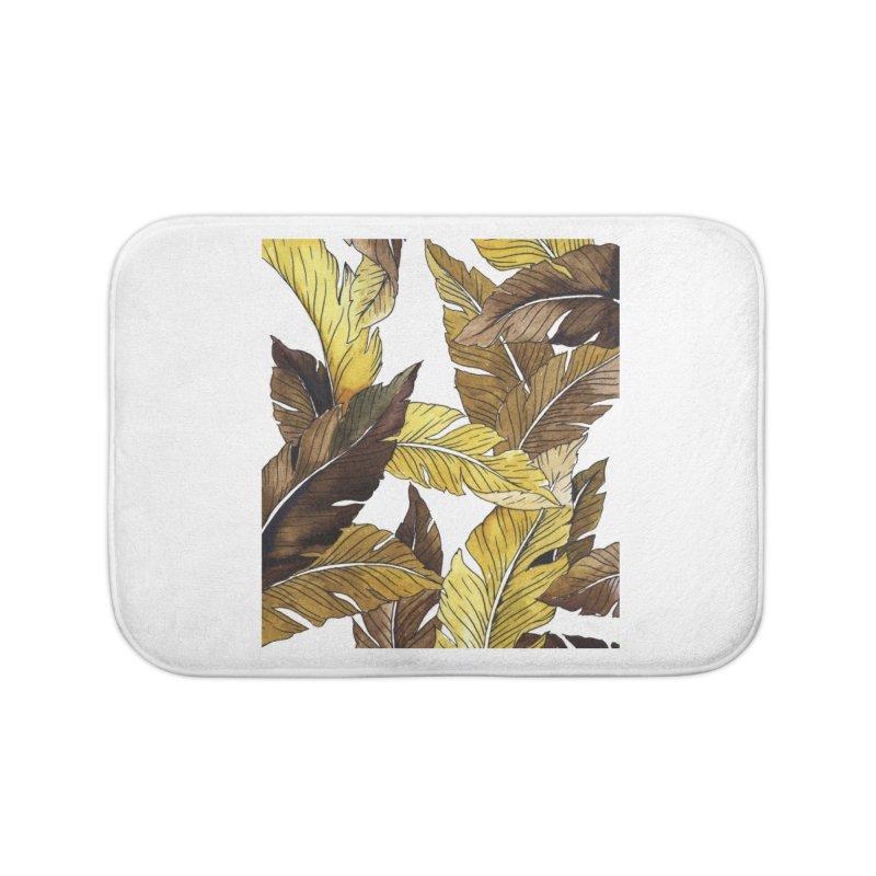 falling leaf Home Bath Mat by delcored
