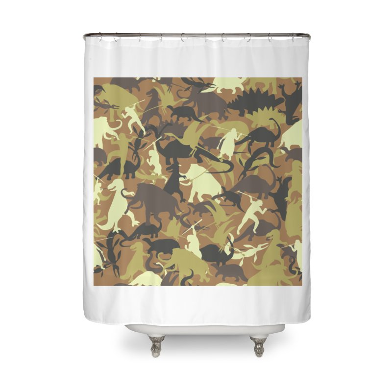 Hunting season Home Shower Curtain by delcored