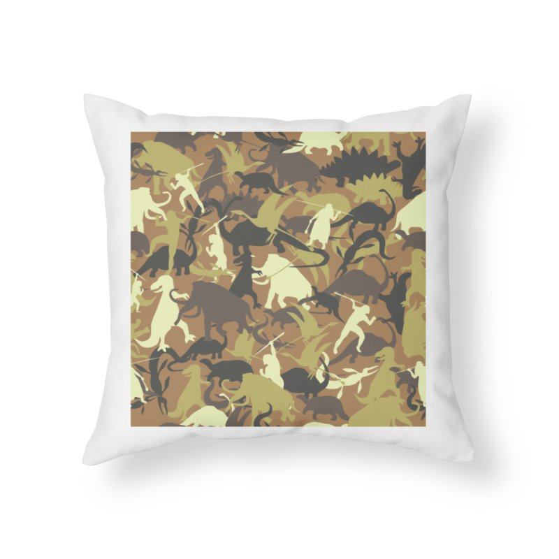 Hunting season Home Throw Pillow by delcored