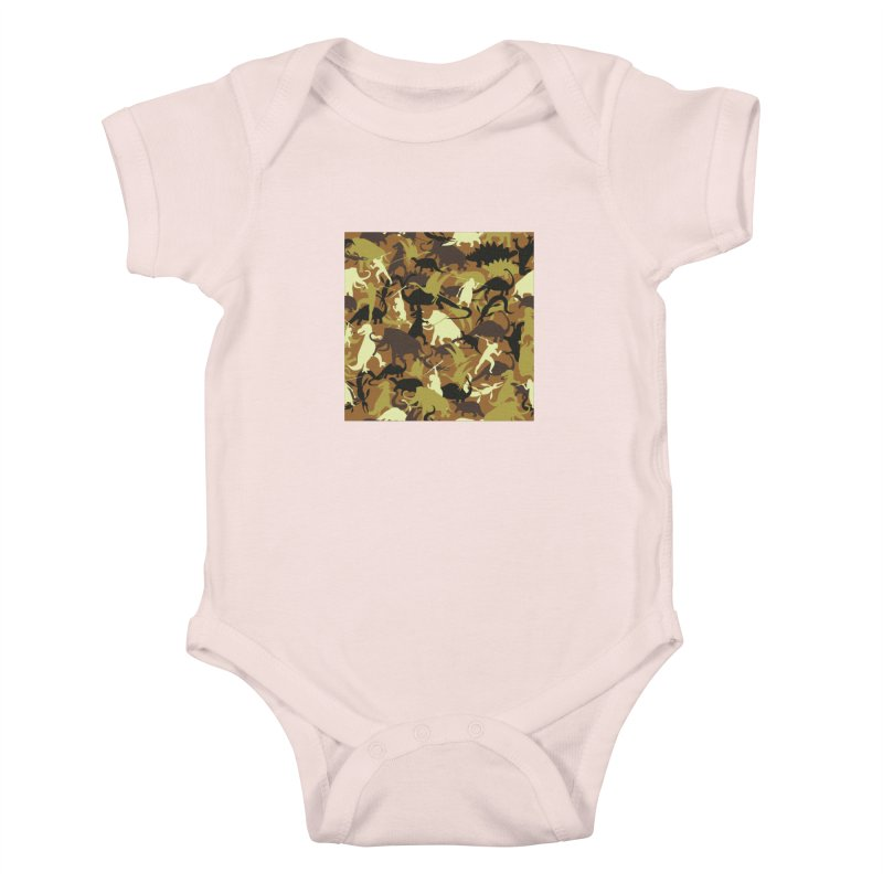 Hunting season Kids Baby Bodysuit by delcored