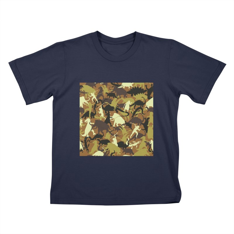 Hunting season Kids T-Shirt by delcored