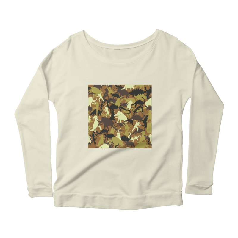 Hunting season Women's Longsleeve Scoopneck  by delcored