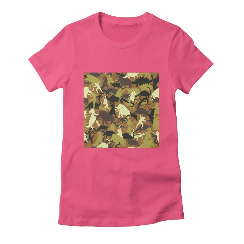 Hunting season Women's Fitted T-Shirt by delcored