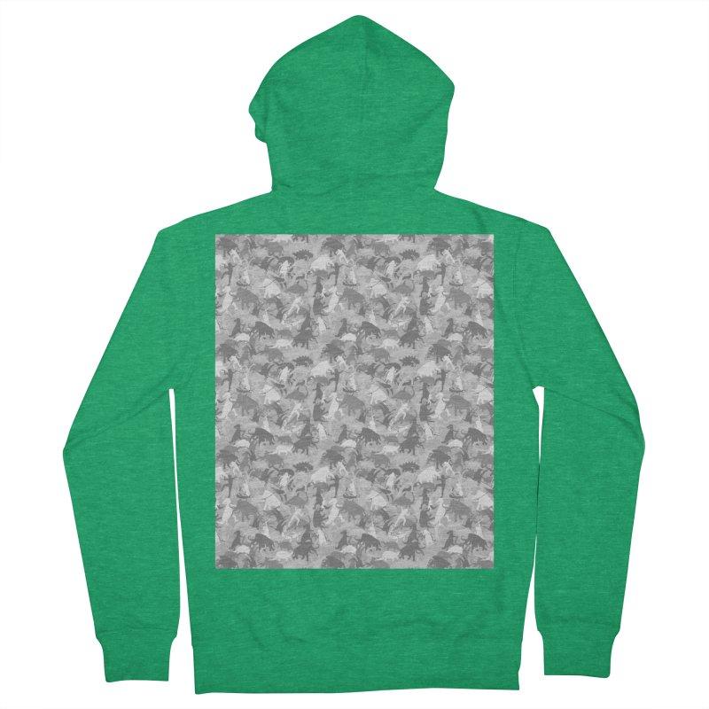 camos grey Men's Zip-Up Hoody by delcored